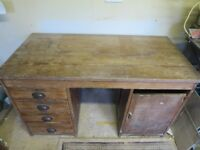 Antique oak desk.