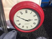 Large red clock