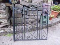 WROUGHT IRON GARDEN GATE IN GOOD CONDITION. 102CM HIGH 94CM WIDE. PICK UP MATLOCK OR NOTT'M