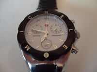 MICHELE TAHITIAN BLACK JELLYBEAN CHRONOGRAPH WATCH