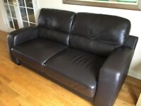 For Sale brown 3 seater sofa