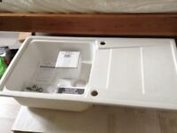 Cooke & Lewis ceramic sink ( new )
