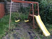 Plum Swing and slide Wooden Playcentre