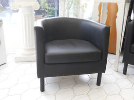 Faux Leather Tub Armchairs