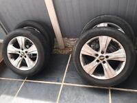"4 Alloy Wheels 18"" 5x115 with tyres"