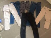 Girls jeans and trousers Age 9-11
