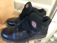 Dickies safety boots size 9 and helmet