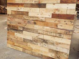 Pallet Wood Wall Planks sold in 1Sq. meter packs