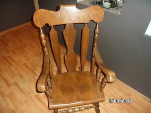 solid wood rocking chair Strathcona County Edmonton Area image 1
