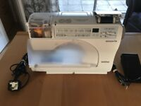 Brother computerised sewing machine.with manual and beginners CD