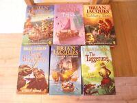 6 x Brian Jacques books
