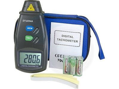 Digital Laser Photo Tachometer Non-contact Rpm Speed Meter W Strips
