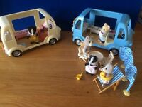 sylvanian families Fish and chip van, ice cream van and more