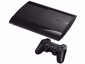 PS3 SLIMLINE 500 GB 6 GAMES 2 CONTROLERS
