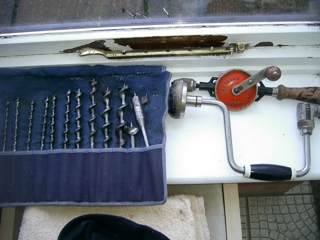 Joiners Tools Auger Bits Stanley Hand Drill Brace And