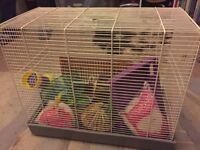Hamster Cage & Accessories - £25