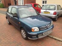 12 months Mot November 2018 cheap and reliable 2002 Nissan Micra 1.0 runs and drives nice low miles