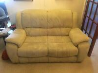 2 seater sofa and reclining armchair