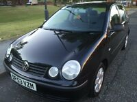 P/X TO CLEAR 2003 V W POLO S 1.2 PETROL 5DOOR SERVICE HISTORY FULL12 MONTHS MOT LOW INSURANCE