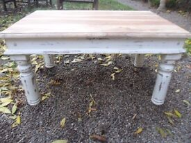 Beautiful shabby chic distressed coffee table.