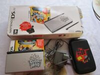 Limited Edition Guitar Hero Nintendo DS Lite games Console Bundle In original Box