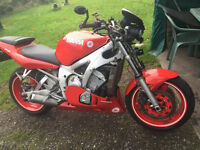 Yamaha R6, run daily fantastic fun, street fighter, good mot, first class engine and gears.