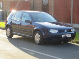 2002 VW Golf 1.6 SE Automatic 70000 Miles with Full Service History
