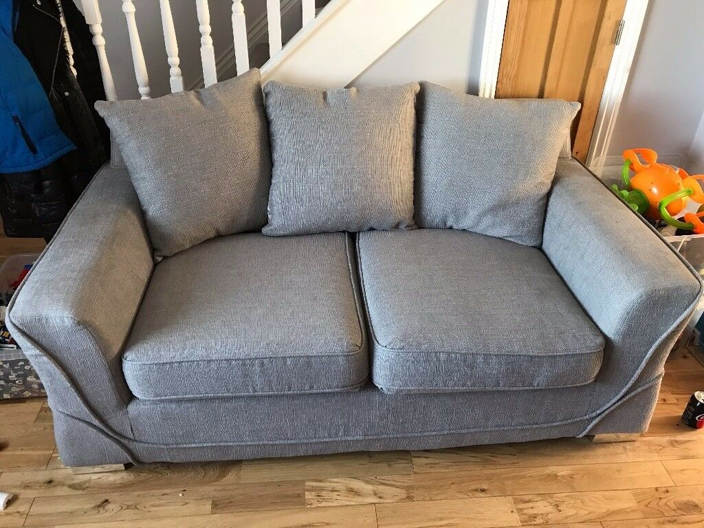 Grey Fabric 2+3 seater sofas