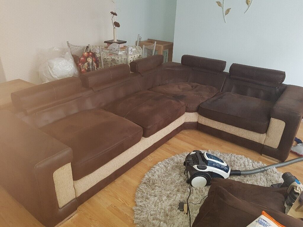 Excellent Large Corner Sofa For Sale In Plymouth Devon Gumtree Ocoug Best Dining Table And Chair Ideas Images Ocougorg