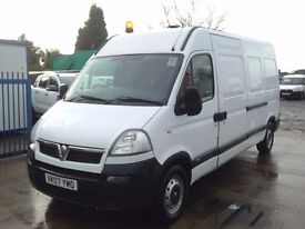 Vauxhall Movano 2.5CDTI 16v 2007 LWB 3500 Maxi Roof With Tail Lift,1 Owner Fsh. over £11k spend,