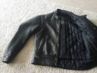 Mens Furygan leather motorbike jacket.