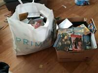 Huge bag of dvds cds and books