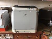 H/P colour laser jet 1600 Printer. Little used. 3 ink toners 75% full 1 ink toner 40% full .