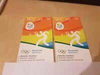 Olympic table tennis tickets x2 £25 each - 14th August