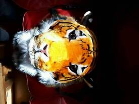 3d realistic tiger animal bag rucksack