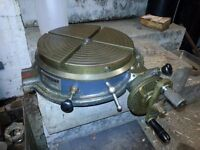 12 inch Elliott Rotary Table. Good working condition - minimal marks.