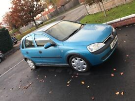 Blue Vauxhall corsa, 2003 plate, good condition, good runner and cheap to insure.