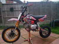 150cc m2r pitbike oilcooled. Upgades. Not a honda yamaha suzuki 50 65 85 100 125 250 450 crf
