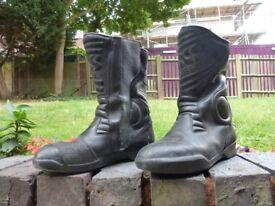motorcycle boots UK size 10