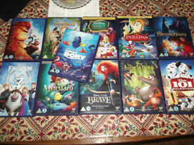 11 x Disney movies SLEEPING BEAUTY / PETER PAN / 101 DALMATIONS DVDS + Many more