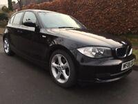 2008 BMW 118d 2.0 SE DIESEL 5dr Hatchback,BLACK Color,08 Reg,109000 Miles,Good,1 Pre Owner,A/C,Alloy