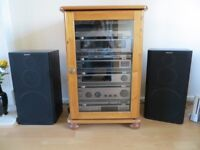 SEPARATE SONY HI-FI SYSTEM INCLUDING CABINET. EXCELLENT CONDITION
