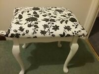 Small Dressing table / bedroom stool with queen anne legs
