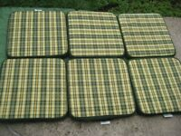 6 Matching Li-Lo Garden Chair Cushions for £2.00 each or 6 for £10.00