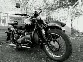 Sidecar outfit ural with bmw engine