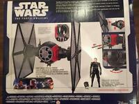 Star Wars NEW sealed Tie Fighter vehicle & exclusive Pilot figure clone rebels collectible toy