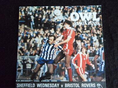 Sheffield Wednesday v  Bristol Rovers  13-12-1980