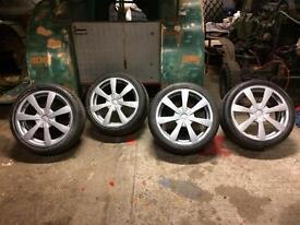 """18"""" OZ alloy wheels & tyres 5x112/5x100 VW golf Passat Jetta beetle caddy Audi A3 A4 a6"""