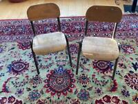 Vintage primary school/nursery chairs x 2