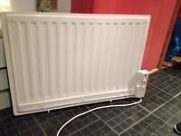 Electric wall mounted radiator x 2
